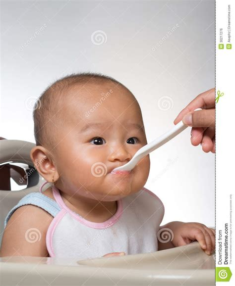 Baby Starting On Solids 3 Royalty Free Stock Image Image