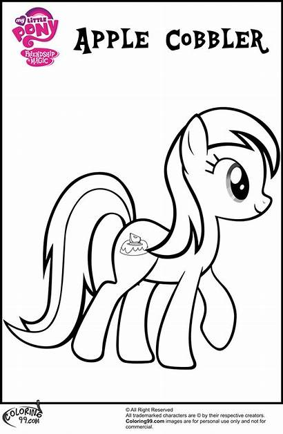 Coloring Apple Pages Mlp Pony Cobbler Colouring