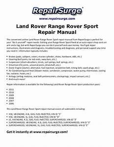 Land Rover Range Rover Sport Repair Manual 2006 2011