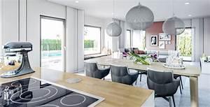 Die Küche Rheinbach : wohnideen offene k che mit esstisch und wohnzimmer haus concept m 167 bien zenker ~ Markanthonyermac.com Haus und Dekorationen
