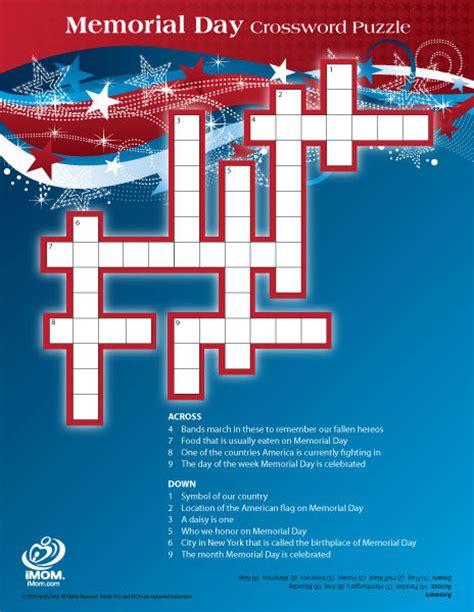 memorial day crossword puzzle imom