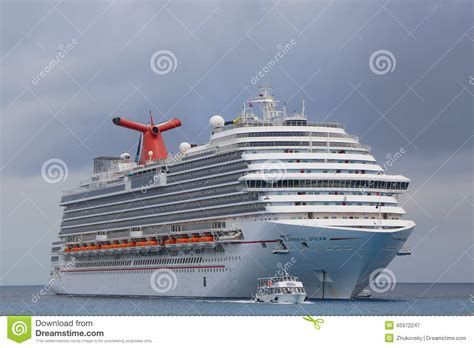 Carnival Dream Cruise Ship Anchors At The Port Of George Town Grand Cayman Editorial ...