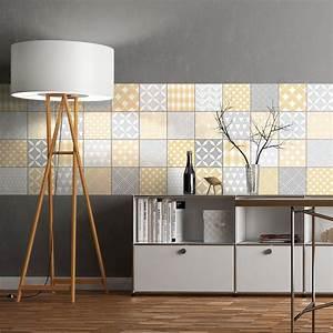 Stickers Carreaux Cuisine : 24 stickers carreaux de ciment scandinave jersey cuisine carrelages ambiance sticker ~ Preciouscoupons.com Idées de Décoration