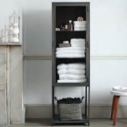 modern bathroom storage ideas industrial metal bath cabinet modern bathroom cabinets and shelves by west elm