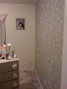 23 glorious sparkle wall ideas glitter accent wall With wall paint colors glitter