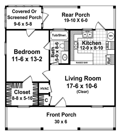the 600 square foot home cottage style house plan 1 beds 1 baths 600 sq ft plan