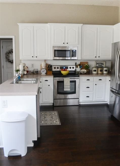 painted kitchen cabinets makeover with magnolia paint
