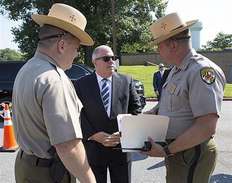 gov larry hogan  announcment  maryland state police