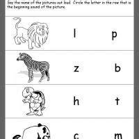 beginning consonants printable zoo animal worksheet