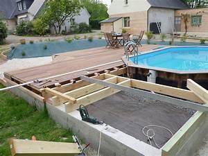 Piscine Avec Terrasse Bois : terrasse en bois avec piscine ~ Nature-et-papiers.com Idées de Décoration