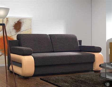 canapé lit coffre canap convertible contemporain avec coffre delia 2