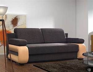 Canap convertible contemporain avec coffre delia 2 for Tapis de course avec grand canape convertible