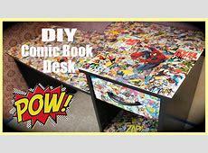 DIY Comic Book Desk YouTube