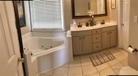 balanced beige bathroom  cabinet girls