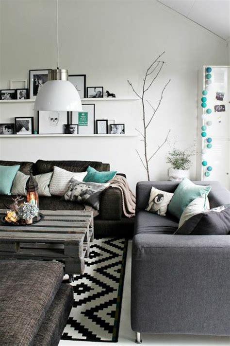 idee deco salon canapé gris meuble avec canape gris