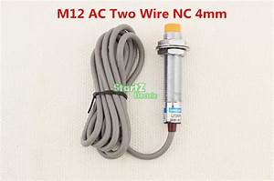 5pcs M12 Ac Two Wire Nc 4mm Distance Measuring Inductive