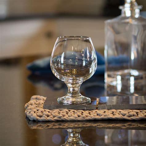 brandy cognac liquor snifter drinking glasses set ml