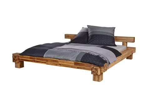 Massivholzbettgestell 180x200  Akazie Brent  180 Cm