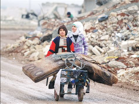 Samah 11 And Her Brother Ibrahim Transport Their Salvaged