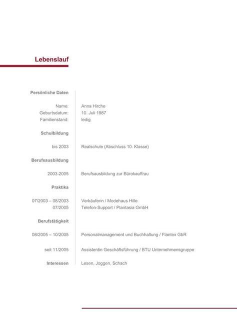 Lebenslauf Vorlage Ohne Bild by 10 Tabellarischer Lebenslauf Ohne Foto Vorlage Terraluna