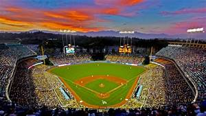Dodger Stadium at sunset | Baseball Stadiums | Pinterest ...
