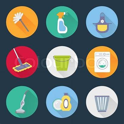 Cleaning Icons Vector Washing Icon Housekeeping Machine