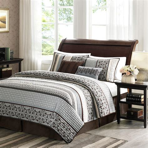 Quilted Coverlet Set by Blue And Brown Bedding Sets Ease Bedding With Style