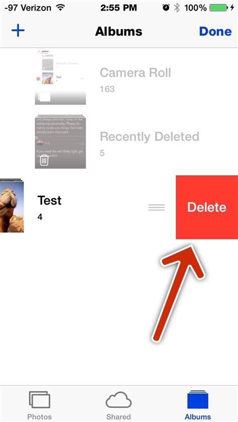 how do i delete from my iphone how do i delete certain photo albums from my iphone 5s