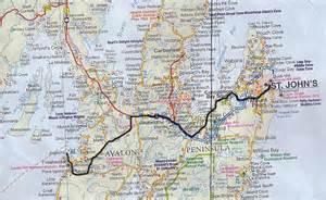 Road Map Newfoundland Canada