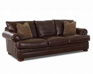 klaussner montezuma ltd43800 s leather sofa with rolled With klaussner leather sectional sofa