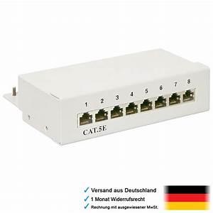 Lan Kabel Verteiler : 8fach 8x rj45 cat5e verteiler f r netzwerk patch lan internet kabel zum einbau ebay ~ Orissabook.com Haus und Dekorationen