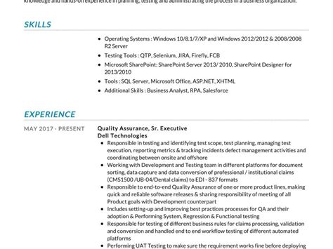 quality assurance resume sample resumekraft