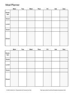 meal planner template google meal plan templates search meal planning weekly meal plans meal