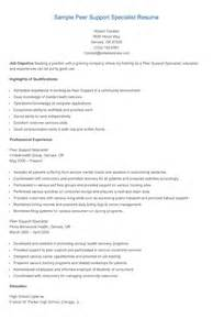 supported employment specialist resume resume sles sle peer support specialist resume
