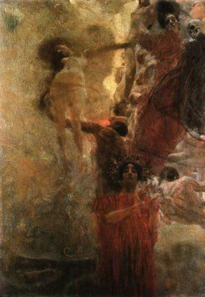 gustav klimt painting early works medizin