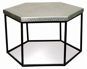 hammered metal hexagon coffee table by riverside furniture With hexagon coffee table set