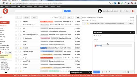 Adding Google Docs As Email Attachments Using Google Drive