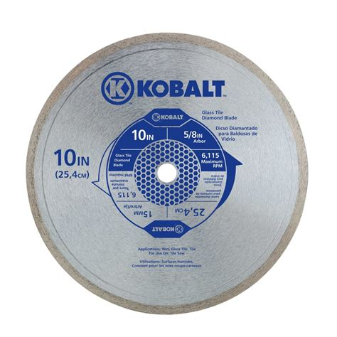 kobalt tile saw blade shop kobalt 10 in 1 tooth continuous tipped