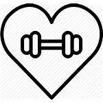 Icon Gym Fitness Icons Health Heart Icono