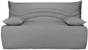 Housse Bz Gris : banquette bz gris 160 matelas sofaconfort 12 cm brioca ~ Teatrodelosmanantiales.com Idées de Décoration
