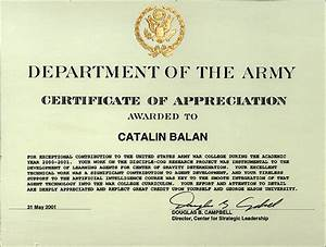certificate of appreciation citation army images With army certificate of completion template