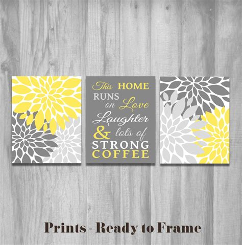 Yellow And Gray Wall Decor by Yellow Kitchen Wall This Home Runs On Laughter