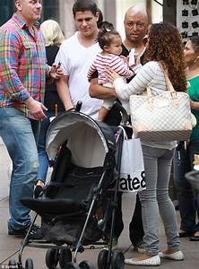 A.J. McLean and his wife Rochelle take their baby Ava ...