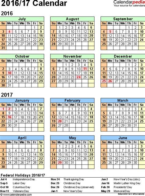 split year calendar july june templates
