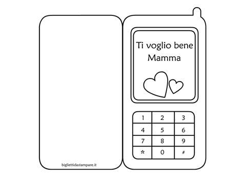 telefono da colorare festa della mamma biglietto a forma di cellulare