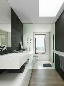 Ambiance Salle De Bain : salle de bain design noir et blanc ambiance zen ~ Melissatoandfro.com Idées de Décoration