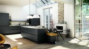 Meuble Plan De Travail Cuisine : cuisine gris anthracite 56 id es pour une cuisine chic et moderne ~ Teatrodelosmanantiales.com Idées de Décoration