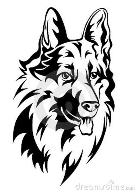 dog tattoo abstract - Google Search | Scroll saw, Long haired german shepherd, Scroll saw patterns