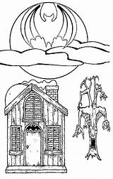 Haunted Coloring Halloween Pages Ghost Houses Witches Printable Scary Easy Getcoloringpages Someone Fun Library Clipart Popular Central sketch template