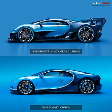 Does Volkswagen Make Bugatti by Bugatti Chiron Vs Vision Gran Turismo Design Comparison